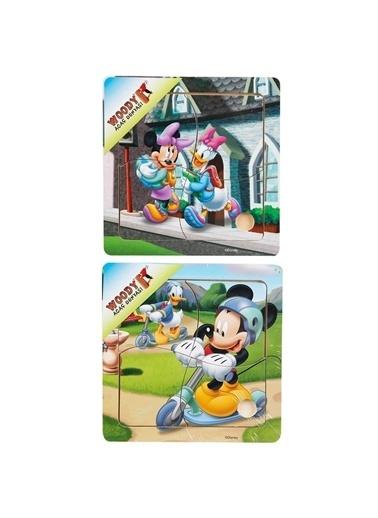 Sunman Sunman 015213 4 ParÇa Mickey Mouse Desenli Ahşap Eğitici Puzzle Renkli